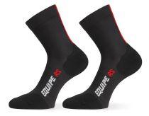 Assos Chaussettes RS Socks BlackSeries (Noir / Rouge)