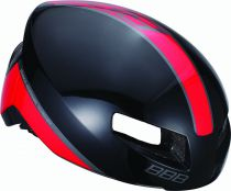 BBB Casque Tithon Noir brillant rouge M