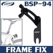 BBB Fixation plaque de cadre sur étrier de frein arrière