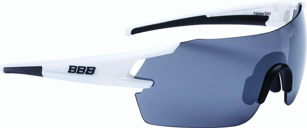 BBB Lunettes FullView Blanc brillant, PC Smoke flash mirror lens