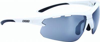BBB Lunettes Impulse Blanc brillant, PC Smoke flash mirror lenses 5207