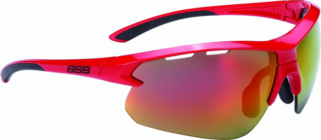BBB Lunettes Impulse Rouge brillant, PC Smoke red MLC lenses 5203
