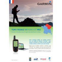 Carte Garmin Topo France v3 Nord-Est Pro DVD avec carte microSD/SD pré-chargée