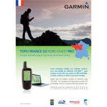 Carte Garmin Topo France v3 Nord-Ouest Pro DVD avec carte microSD/SD pré-chargée