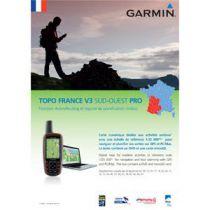 Carte Garmin Topo France v3 Sud-Ouest Pro DVD avec carte microSD/SD pré-chargée