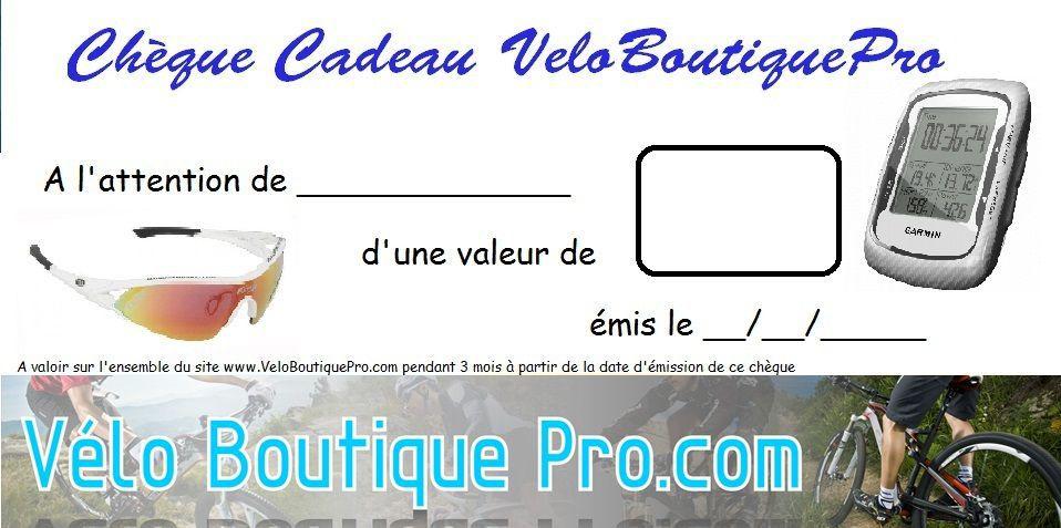 Chèque Cadeau Veloboutiquepro