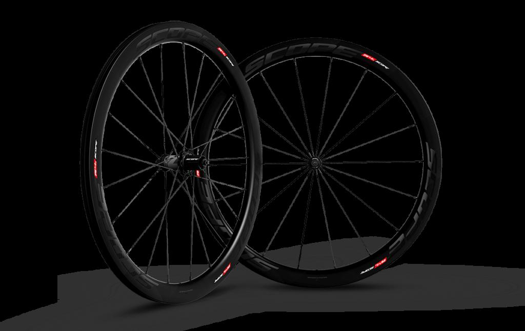 Paire de roues Carbone Scope 45mm R4c Shimano Largeur 26mm
