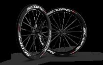 Paire de roues Carbone Scope 55mm R5c Shimano Largeur 24mm