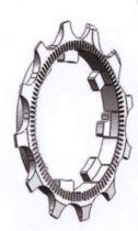 Pignons MICHE pour 9/10V CAMPAGNOLO 11 dents départ + 12 dents deuxième position