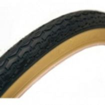 Pneu 450x35 A  noir/beige lisse
