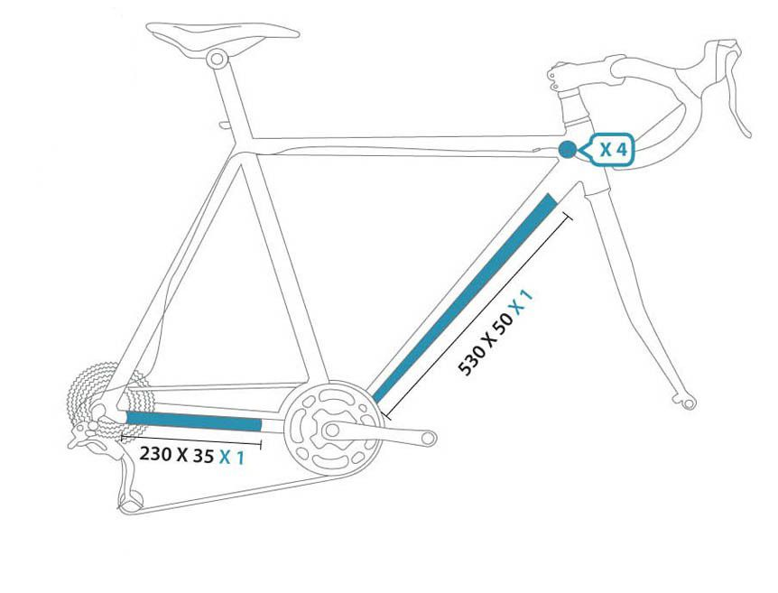 Protection Autocollante CLEAR PROTECT Pack Velo S (spécial route)