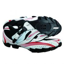 SHIMANO Chaussures VTT M087 Blanc/Rouge Pointure 41