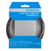 SHIMANO KIT CABLES et GAINES  DERAILLEUR TRANSMISSION ROUTE NOIRE