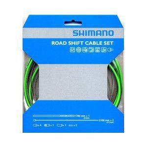 SHIMANO KIT CABLES et GAINES DERAILLEUR PTFE TRANSMISSION ROUTE VERTE