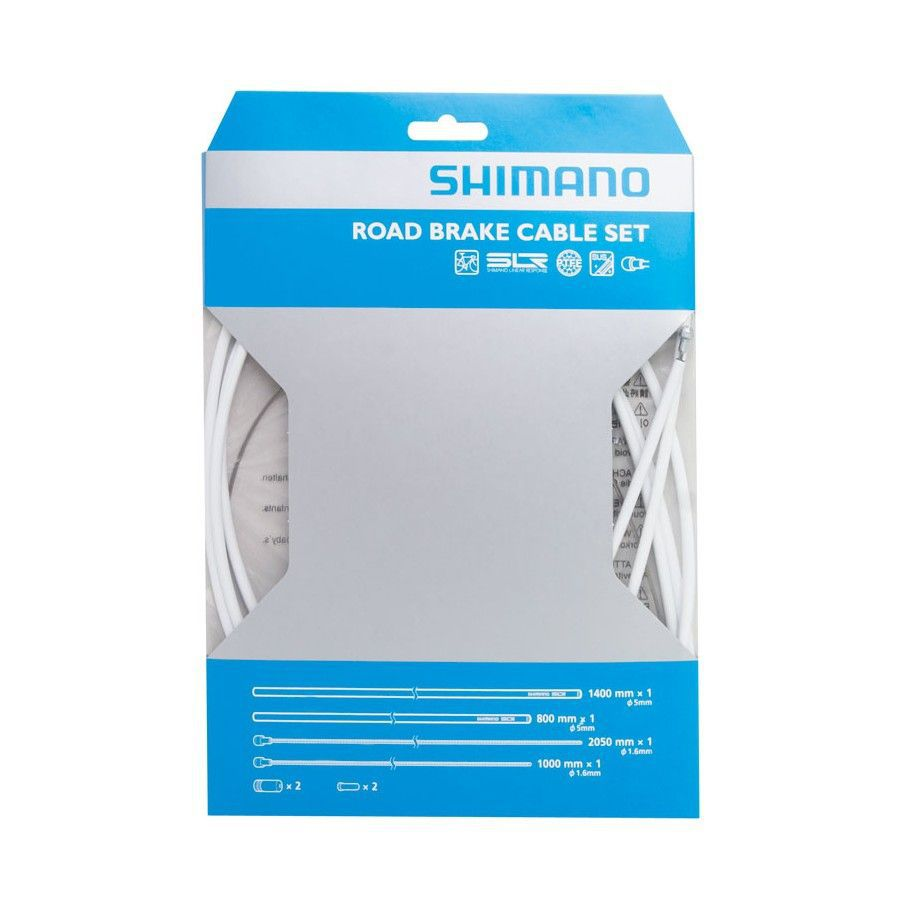 SHIMANO KIT CABLES et GAINES FREIN PTFE TRANSMISSION ROUTE BLANCHE