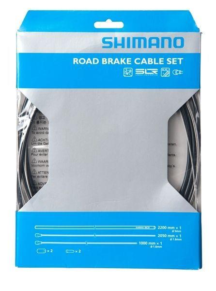 SHIMANO KIT CABLES et GAINES FREIN PTFE TRANSMISSION ROUTE NOIRE