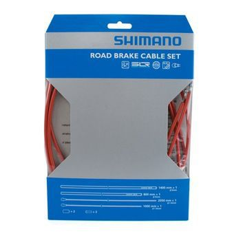 SHIMANO KIT CABLES et GAINES FREIN PTFE TRANSMISSION ROUTE ROUGE