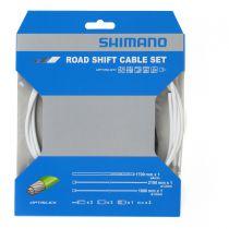 SHIMANO Kit Cables Gaines Derailleurs Blanc Optislik