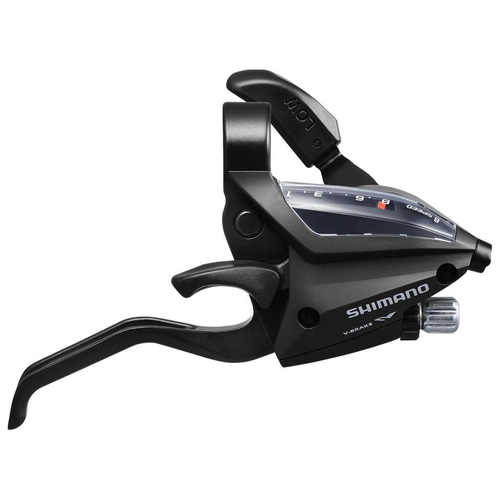 Shimano Manette Et Levier Droit 8v ST-EF500 2 Doigts Noir
