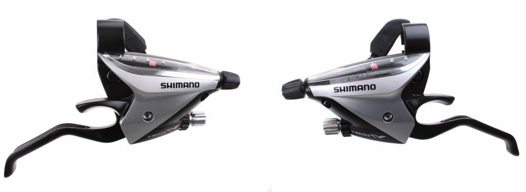 Shimano Paire Manettes Et Leviers ST-EF65-2A Argent 3x8v