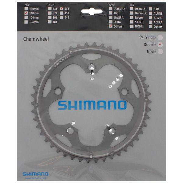 SHIMANO Plateau 46D-G Cyclocross FC-CX50 Argt
